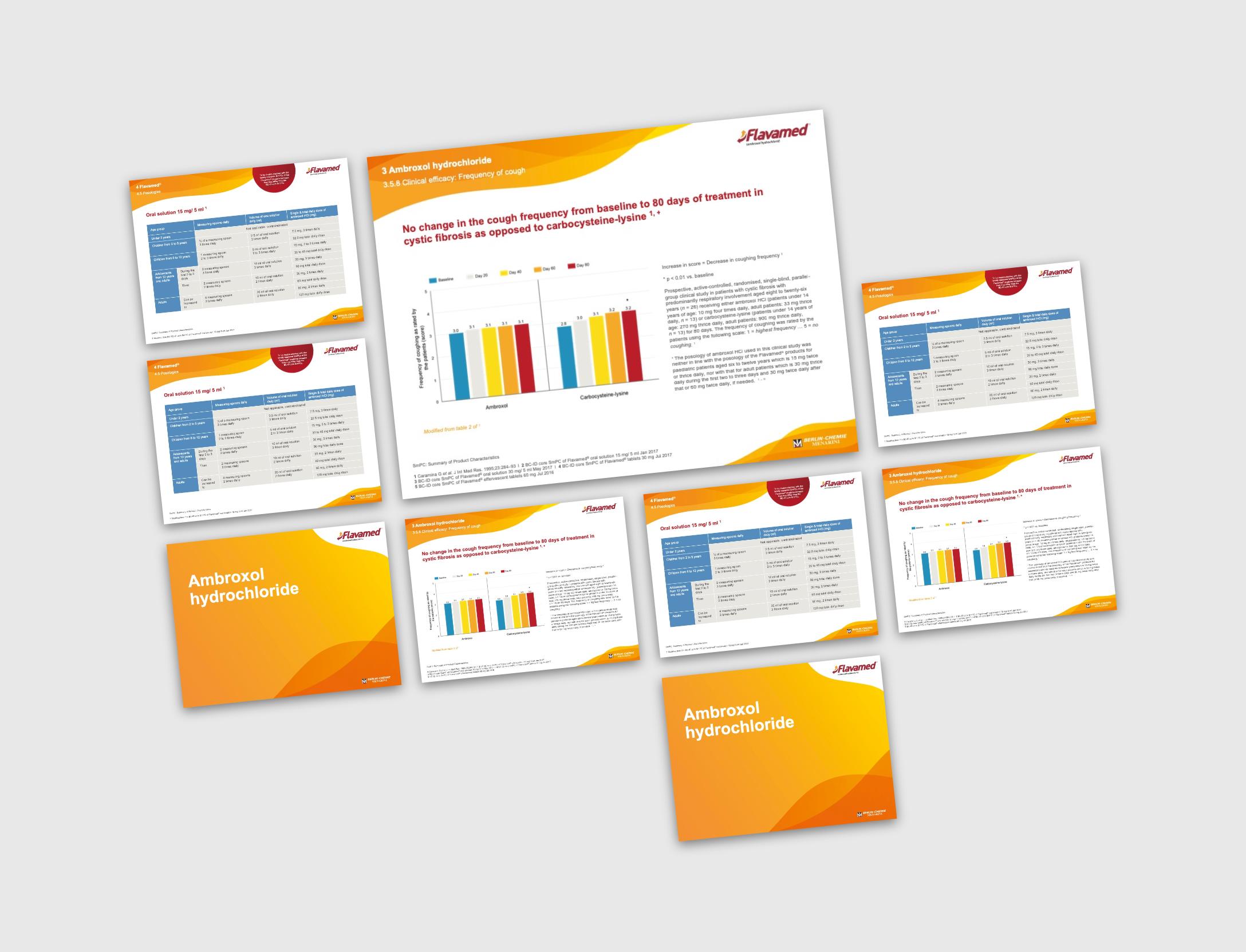 Ansichten des Slide Kits Flavamed von der Healthcare Werbeagentur mcs