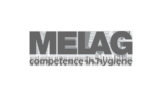 Das Logo des Medizintechnikherstellers Melag