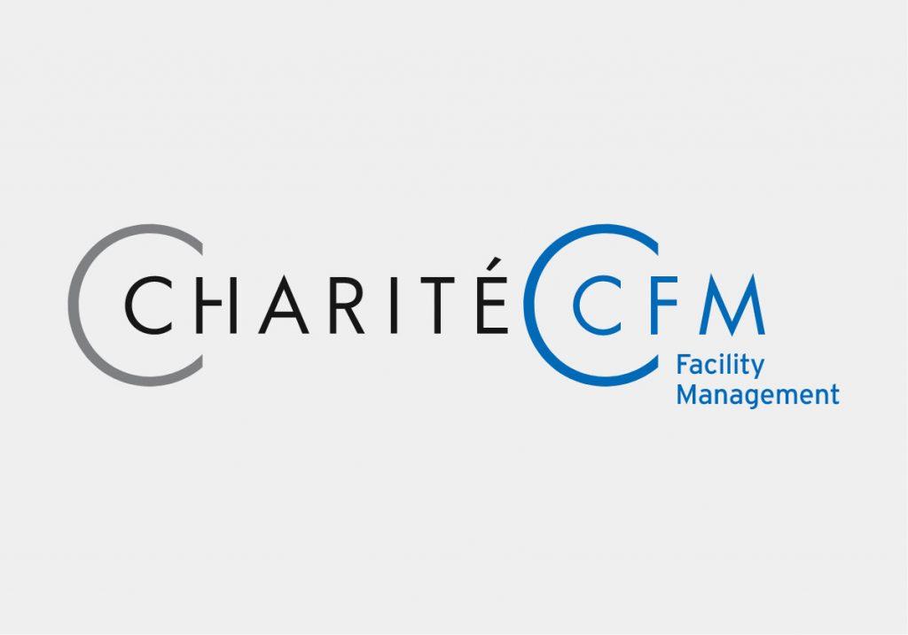 Logo der Charité CFM Facility Management GmbH, entwickelt von der Healthcare Agentur mcs