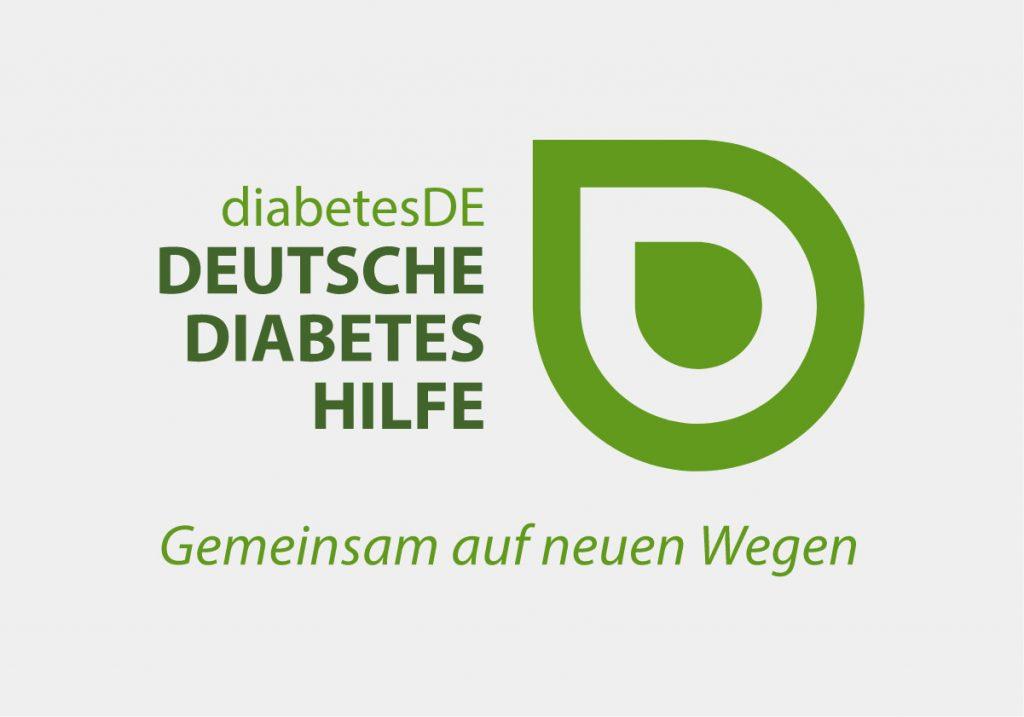 Logo der Deutschen Diabetes Hilfe, entwickelt von der Healthcare Agentur mcs