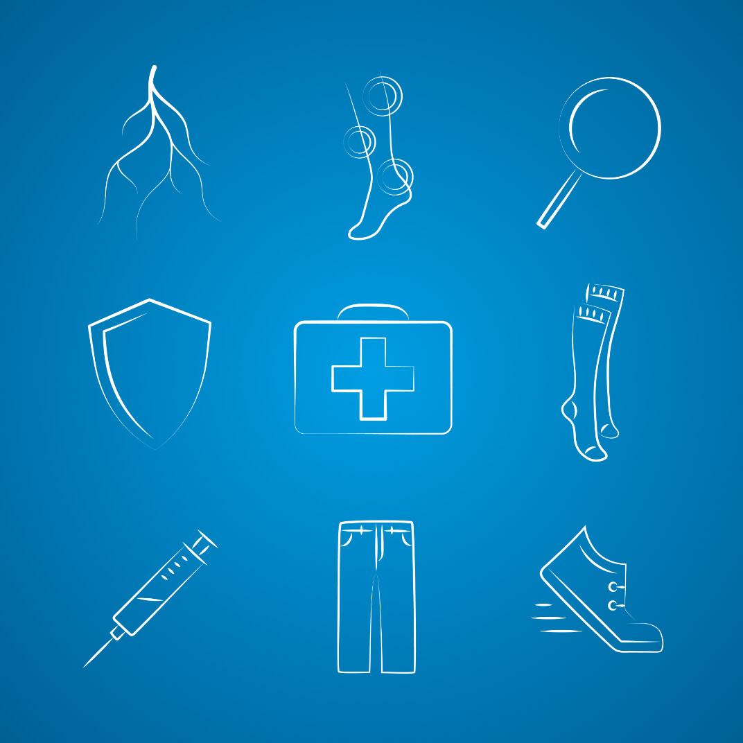 Icons für den Website Relaunch Lioton, entwickelt von der Healthcare Werbeagentur mcs