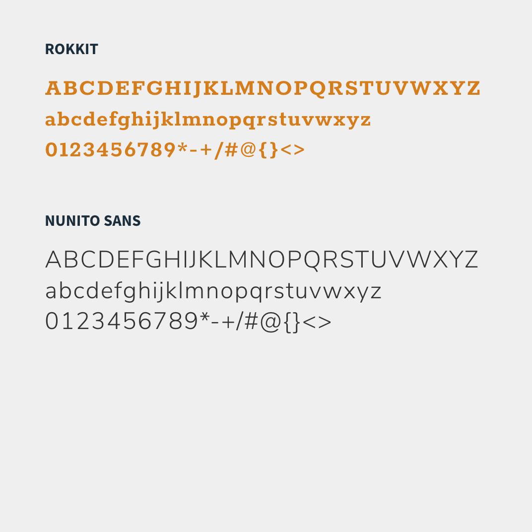 Ansicht der Schriftart der Gout-Website, ausgewählt von der Healthcare Werbeagentur mcs